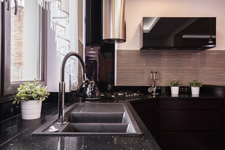Black Quartzite Counter