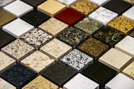 Granite Countertop and Flooring Samples in Small Square Pieces