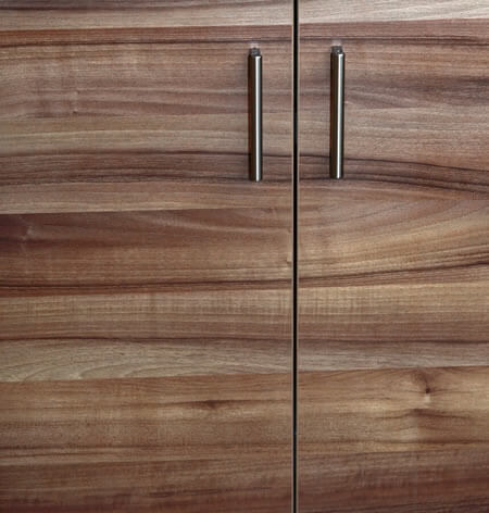 Modern Cabinet Slab Doors with Smooth Wood Grain