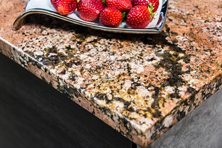 Pink, Peach and Black Granite Countertop